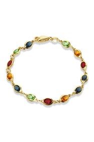 Savvy Cie 18K Gold Plated Multi Color CZ Tennis Br