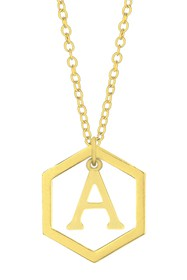 Savvy Cie Geometric Initial Necklace