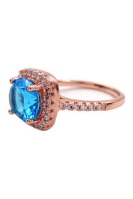 Savvy Cie 18K Rose Gold Vermeil Cushion-Cut Blue T