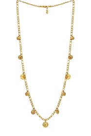 Savvy Cie 18K Gold Plated Curb Link Coin Necklace