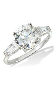 Savvy Cie Sterling Silver Classic 3 Stone Ring