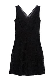 DKNY V-Neck Sleeveless Lace Dress