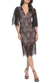 Dress the Population Mia Angel Sleeve Lace Dress