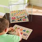 Kids Wooden Peg Puzzles 3-Pack