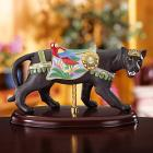 Black Jaguar Carousel Figurine by Lenox